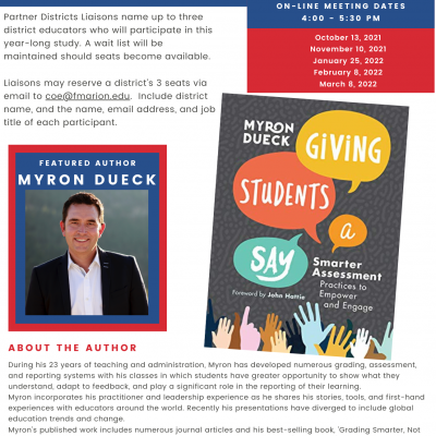 Book Study with Myron Dueck:   Session 2